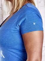 Niebieski t-shirt z napisem ZOO YORK
