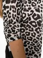 Panterkowa bluzka z koronkowy dołem