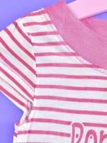 Różowa asymetryczna tunika dla dziewczynki ŚWINKA PEPPA