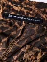 STRADIVARIUS Panterkowe spodnie z lejącej tkaniny
