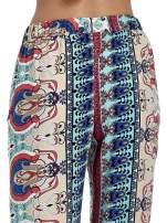 Spodnie dzwony we wzór ornamentowy