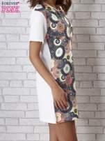Sukienka z okrągłym kwiatowym nadrukiem