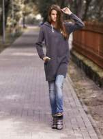 Szara długa bluza oversize