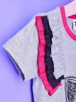 Szara tunika dla dziewczynki z nadrukiem FURBY