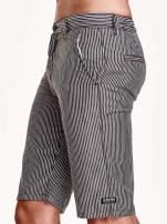 Szare szorty męskie w prążki