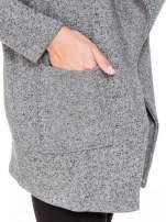 Szary melanżowy bluzożakiet z kieszeniami