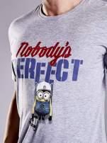 Szary t-shirt męski MINIONS