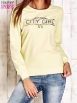 Żółta bluza z napisem CITY GIRL