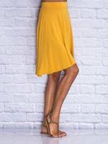 Żółta zwiewna spódnica midi