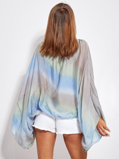 Niebiesko-szara zwiewna bluzka ombre                              zdj.                              5