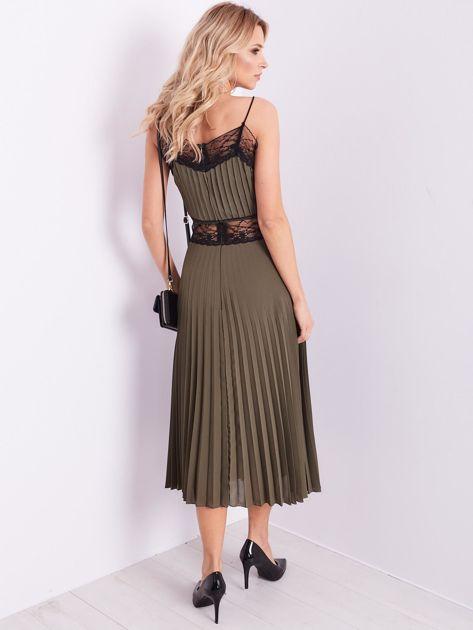 BY O LA LA Khaki wieczorowa sukienka maxi                              zdj.                              4