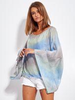 SCANDEZZA Niebiesko-szara zwiewna bluzka ombre                                  zdj.                                  1