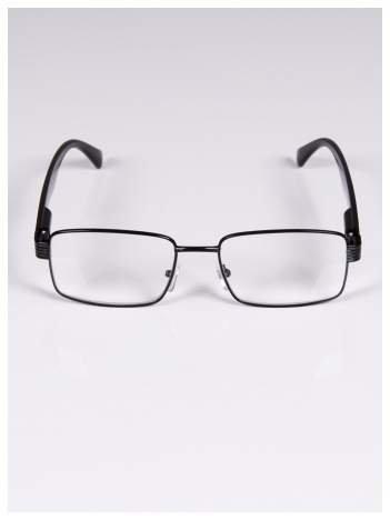 +3.0 D Delikatne czarne okulary korekcyjne do czytania z sytemem FLEX na zausznikach