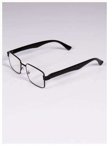 +3.5 D Delikatne czarne okulary korekcyjne do czytania z sytemem FLEX na zausznikach
