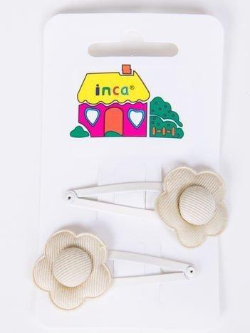 INCA Spinka do włosów w kolorze bawełny komplet 2 szt.