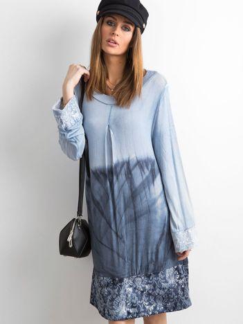 Sukienka z cekinami niebieska