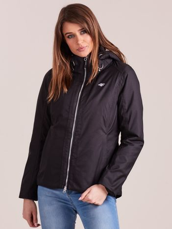 4F Czarna kurtka narciarska z odpinanym kapturem