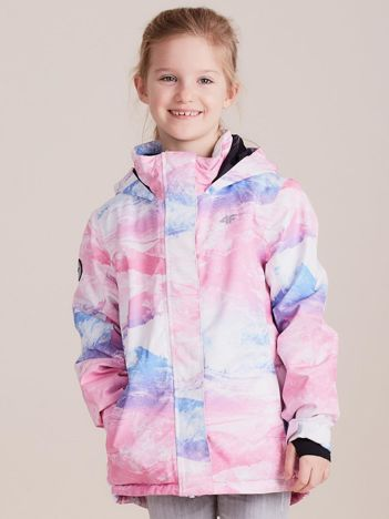 4F Kolorowa kurtka narciarska dla dziewczynki