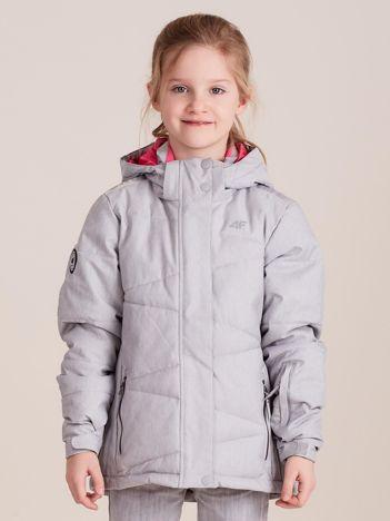 4F Szara kurtka narciarska dla dziewczynki