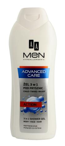 "AA Men Adventure Care Żel pod prysznic 3w1 Action  400ml"""