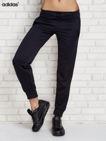 ADIDAS Czarne spodnie dresowe dla dziewczynki