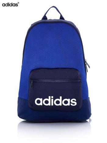 ADIDAS Niebieski plecak szkolny z ozdobną kieszenią