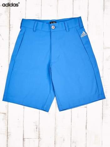 ADIDAS Niebieskie szorty męskie z wszytymi kieszeniami