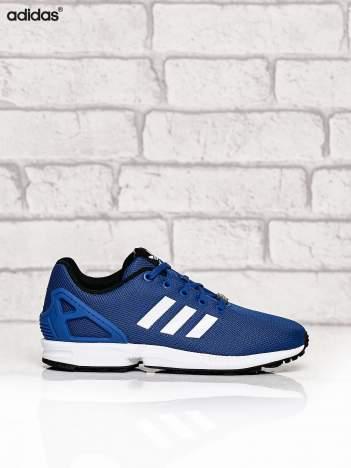 ADIDAS niebieskie buty ZX Flux z fakturą w kropki