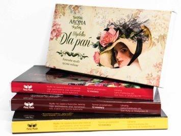 AROMA Soap Zestaw prezentowy 3 naturalne mydełka DLA PAŃ 3 x 50 g