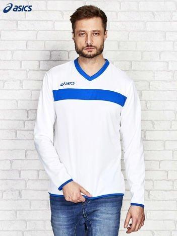 ASICS Biała bluzka męska z kontrastowymi lamówkami