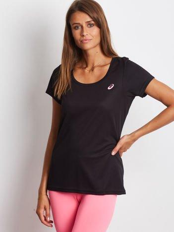 ASICS Czarny sportowy t-shirt
