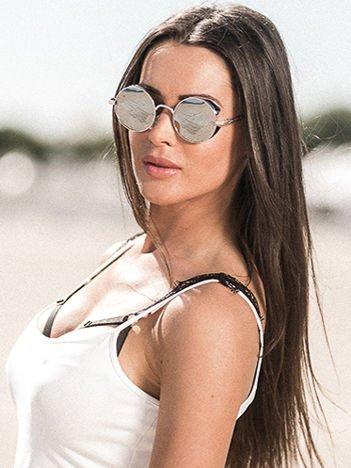 ASPEZO Okulary przeciwsłoneczne damskie POLARYZACYJNE srebrne ST TROPEZ Etui skórzane, etui miękkie oraz ściereczka z mikrofibry w zestawie