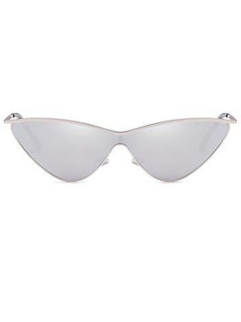ASPEZO Okulary przeciwsłoneczne damskie srebrne SOFIA Etui skórzane, etui miękkie oraz ściereczka z mikrofibry w zestawie