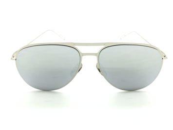 ASPEZO Okulary przeciwsłoneczne damskie srebrno-złote BARCELONA. Etui skórzane, etui miękkie oraz ściereczka z mikrofibry w zestawie