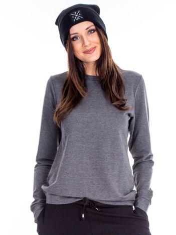 Antracytowa bluza damska basic