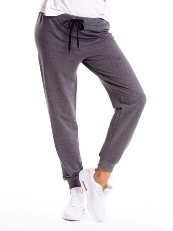 Antracytowe spodnie dresowe z troczkami