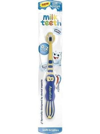 Aquafresh Szczoteczka do zębów Milk Teeth dla dzieci 0-2 lat  1 szt.