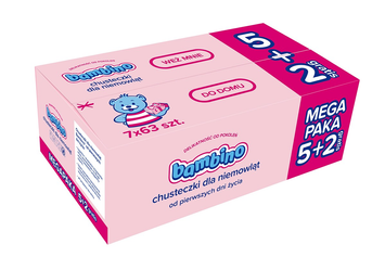 BAMBINO Chusteczki 7 op.x 63 szt. (5+2 gratis)
