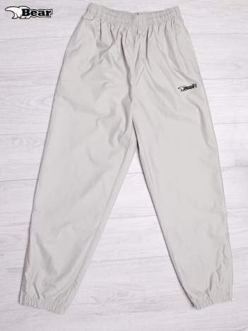 BEAR USA Beżowe spodnie dresowe męskie