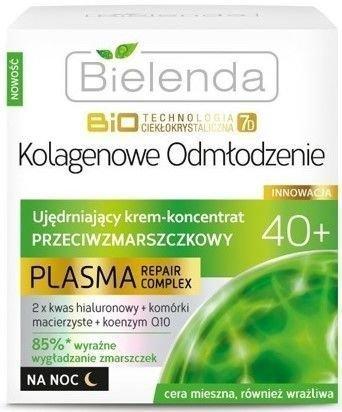 BIELENDA Biotech 7D Plasma 40+ Ujędrniający krem–koncentrat przeciwzmarszczkowy na noc 50 ml