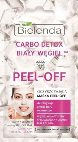 BIELENDA Carbo Detox Biały Węgiel Maska oczyszczająca peel-off do cery mieszanej, tłustej i wrażliwej 2x5g