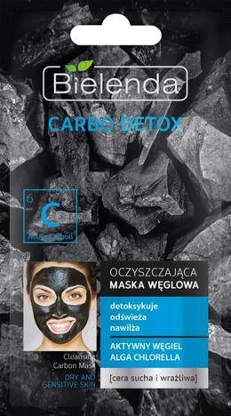BIELENDA Carbo Detox zarny Węgiel Maska oczyszczająca do cery suchej i wrażliwej 8g
