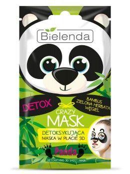 BIELENDA Crazy Mask Detoksykująca maska w płacie PANDA 1 szt