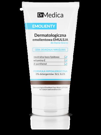 BIELENDA Dr Medica EMOLIENTY Dermatologiczna emolientowa emulsja do mycia twarzy, cera dojrzała i wrażliwa 150 ml