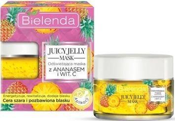 BIELENDA Juicy Jelly maska odświeżająca ananas & witamina C 50 g