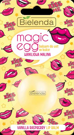 BIELENDA MAGIC EGG Balsam do ust w kulce WANILIOWA MALINA 8,5 g