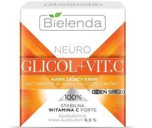 BIELENDA NEURO GLICOL + VIT.C Nawilżający krem aktywator blasku i młodości skóry na dzień SPF 20 50 ml
