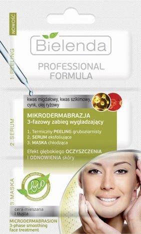 BIELENDA Professional FORMULA MIKRODERMABRAZJA 3-fazowy zabieg wygładzający 3 x 3 g