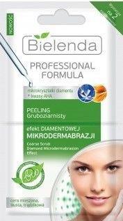 BIELENDA Professional FORMULA Peeling gruboziarnisty EFEKT DIAMENTOWEJ MIKRODERMABRAZJI 2 x 5 g