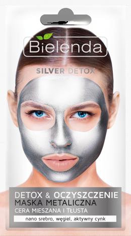 BIELENDA SILVER DETOX Detoksykująca maska metaliczna do cery mieszanej i tłustej 8 g